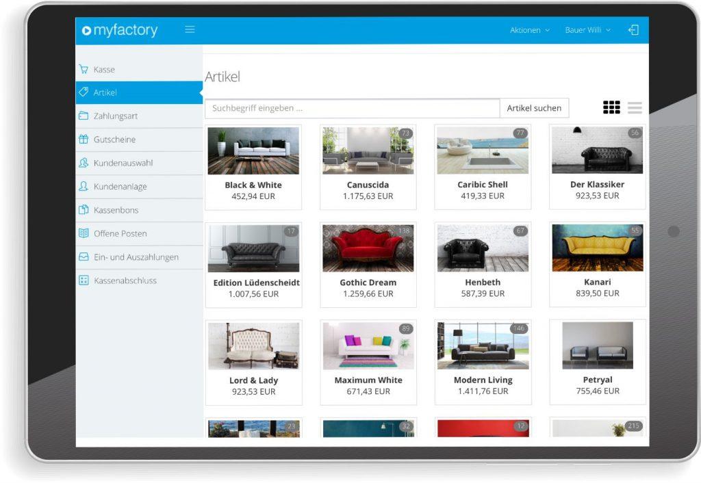 Agil und mobil: Myfactory POS aus der Cloud bieten Nutzern höchste Flexibilität in der Nutzung – auf allen Endgeräten. (Quelle: Myfactory)